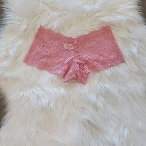 NWOT Pink Lace Boyshort Panty